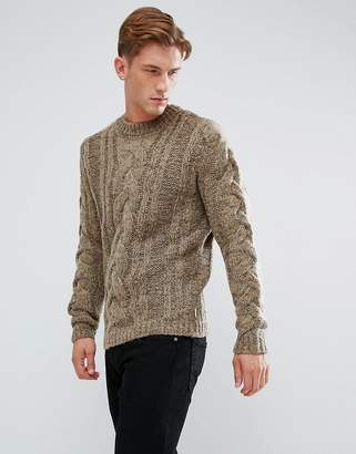Bellfield Chunky Cable Sweater