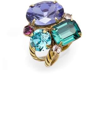 Sorrelli Crystal Cluster Cocktail Ring