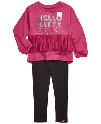 Hello Kitty Toddler Girls 2-Pc. Pleated Mesh Top & Leggings Set
