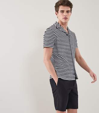Reiss OULTON Striped Towelling Shirt