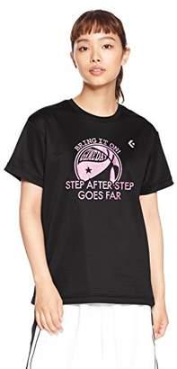 Converse (コンバース) - [コンバース] バスケットボールウェア 機能プリントTシャツ CB382303 [レディース] ブラック/マゼンダ 日本 L (日本サイズL相当)