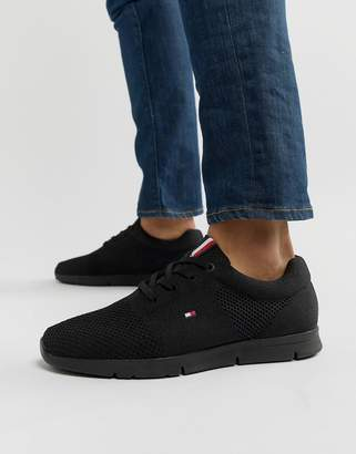 Tommy Hilfiger tobias knit sneaker in black