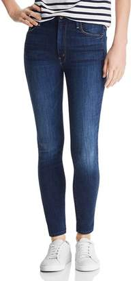 Mother Looker High-Rise Ankle Skinny Jeans in Up Your Alley