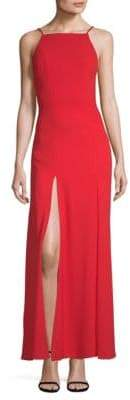 Fame & Partners Leo Front-Slit Gown