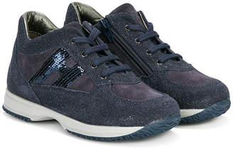 Hogan glitter effect sneakers with sequin appliqué