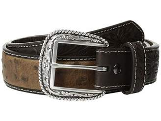 Ariat Tooled Tab Ostrich Belt