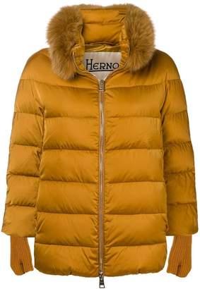 Herno fur puffer jacket