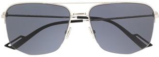 Christian Dior geometric aviator sunglasses