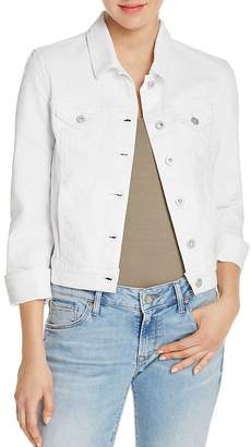 Mavi Samantha White Denim Jacket $98 thestylecure.com