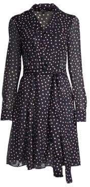 Derek Lam Women's Silk Polka Dot Shirtdress - Navy - Size 46 (10)