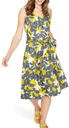 Boden Jade Fit & Flare Linen Cotton Dress