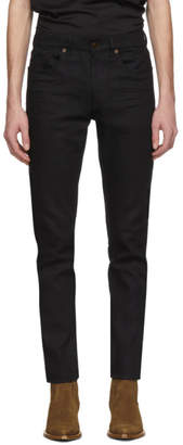 Saint Laurent Black Cropped Skinny Jeans