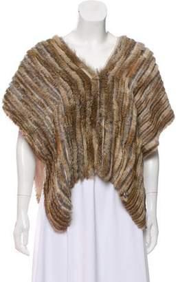 Pas De Calais Fur-Trimmed Silk Poncho