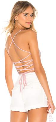superdown Yvonne Lace Up Bodysuit