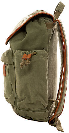 Volcom The Day Dream Canvas Rucksack in Olive