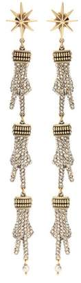 Gucci Crystal-embellished hand earrings