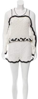 Alice McCall Cold Shoulder Crochet Romper w/ Tags