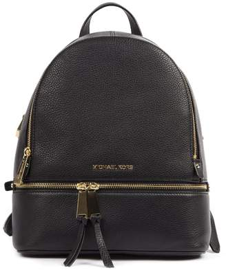 MICHAEL Michael Kors Black Leather Backpack With Logo