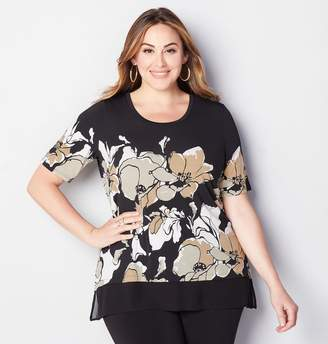 Avenue Placed Floral Chiffon 2fer Top