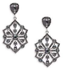 Black Spinel and Sterling Silver Drop Earrings