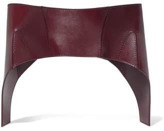 Alexander McQueen Leather Corset Belt - Burgundy