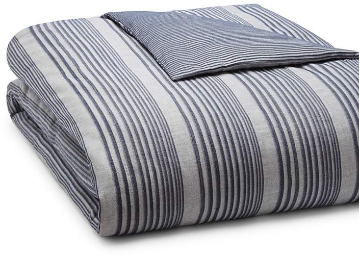 Oake Chambray Pleated Duvet, Full/Queen - 100% Exc...