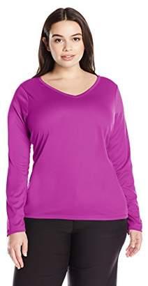 Kanu Surf Women's Plus Size Solid UPF 50+ Long Sleeve Swim Shirt Rashguard