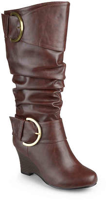 Journee Collection Meme Wide Calf Wedge Boot - Women's