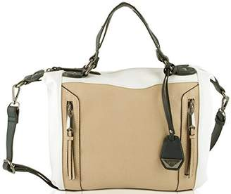 Jessica Simpson Kyle Satchel Crossbody Bag - White/Silver