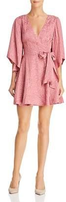 Finders Keepers Heatwave Leopard Print Wrap Dress