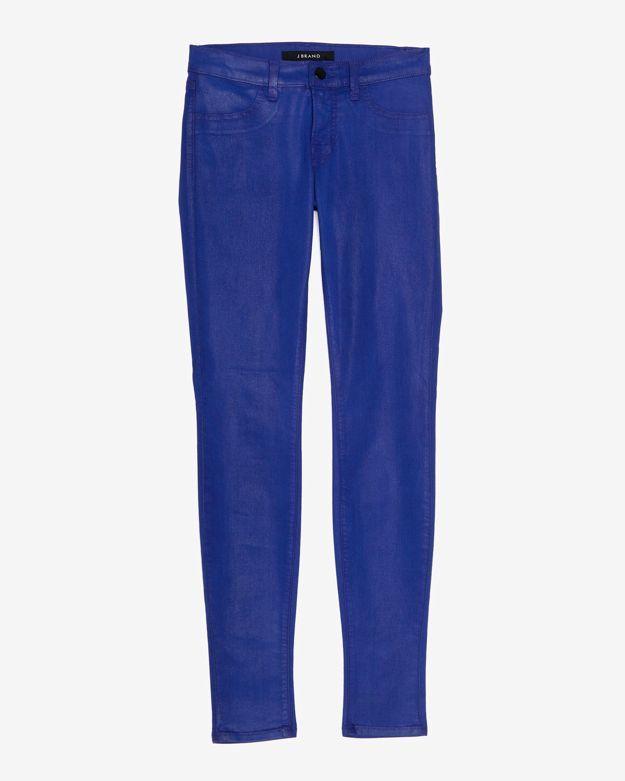 J Brand Coated Super Skinny: Electric Iris