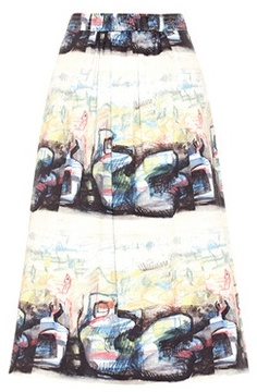 Burberry Kinsale printed cotton skirt