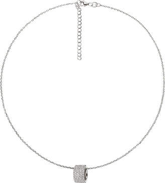 Folli Follie Fashionably sparkle ball sterling silver necklace