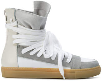 Kris Van Assche lace-up hi-top sneakers