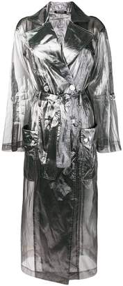 Balmain transparent trench coat
