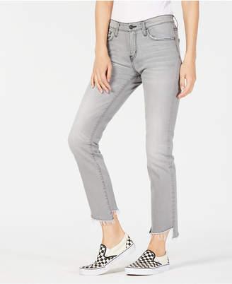 Flying Monkey Slanted Step-Hem Jeans
