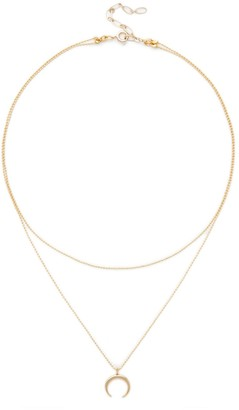 Plated Crescent Layered Choker $59.95 thestylecure.com