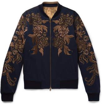 Dries Van Noten Reversible Embroidered Cotton-Twill Bomber Jacket