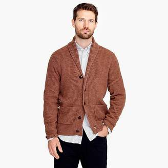 J.Crew Rugged merino wool shawl-collar cardigan sweater
