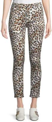 7 For All Mankind Jen7 by Sunkissed Animal-Print Ankle Skinny Jeans