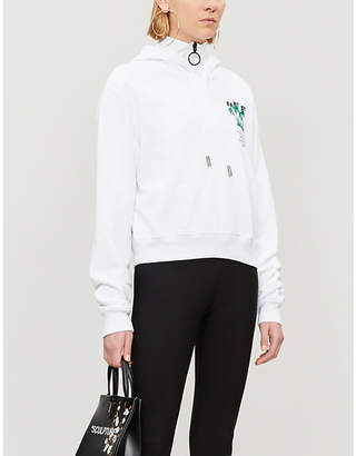 Off-White Island cotton-blend hoody