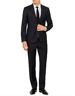 Versace Wool Jacquard Stripe Suit
