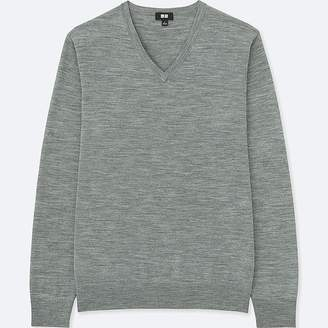 Uniqlo Men's Extra Fine Merino V-Neck Long-sleeve Sweater