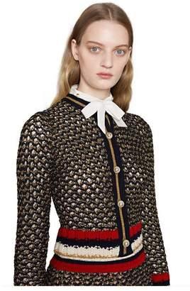Gucci Lurex blend cardigan with Web