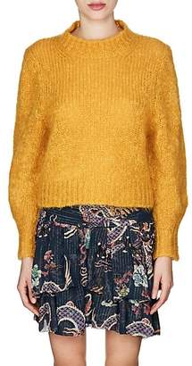 Isabel Marant Women's Ivah Wool-Blend Crop Sweater - Yellow