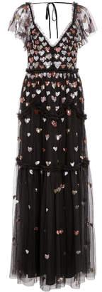 Needle & Thread Loveheart Sequin Tulle Gown