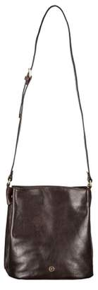 Maxwell Scott Bags Ladies Rich Brown Italian Leather Bucket Bag