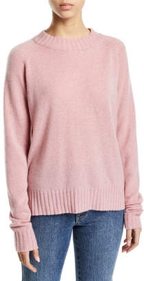 Co Raglan-Sleeve Cashmere Crewneck Pullover Sweater
