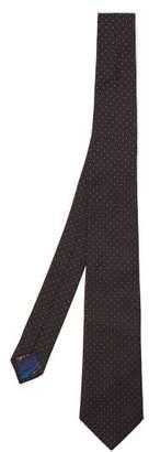 Paul Smith Microdot Silk Tie - Mens - Black