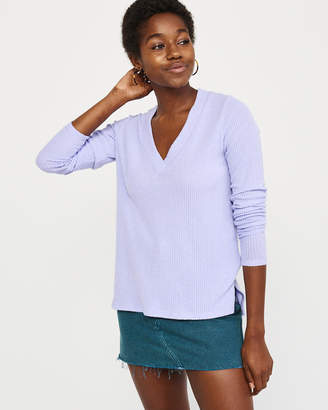 Abercrombie & Fitch Long-Sleeve Cozy V-Neck Top